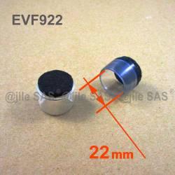 22 mm Durchm. Fusskappen - Durchsichtig - Kunststoff Fusskappen mit Filz.