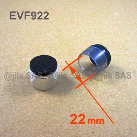 Embout mm diam22 pour en glisseur plastique enveloppant transparent feutre pied de rond chaise UzMVpSqG