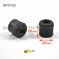22 mm durchm. Zylindrische...