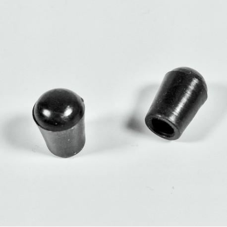 Embout enveloppant rond diam. 4 mm en plastique NOIR - Ajile