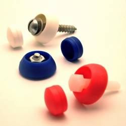 Pour vis M6 : Cache de sécurité Skiffy pour vis écrou filetage diamètre 6 mm (M6) - ROUGE - Ajile