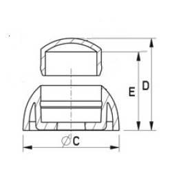 Copridado M8 con protezione - BIANCO - Ajile 3