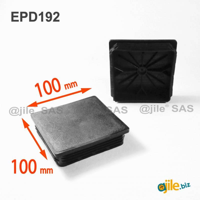 pour tubes carr/és dimensions ext/érieures 90x90 mm 1 bouchon noirs