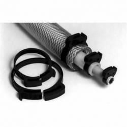 Doppel Greifende Kunststoff Schlauchschelle für Kabel, Leitungen, Schläuche und Rohre Durchmesser 7,9 bis 9,2 mm - Ajile