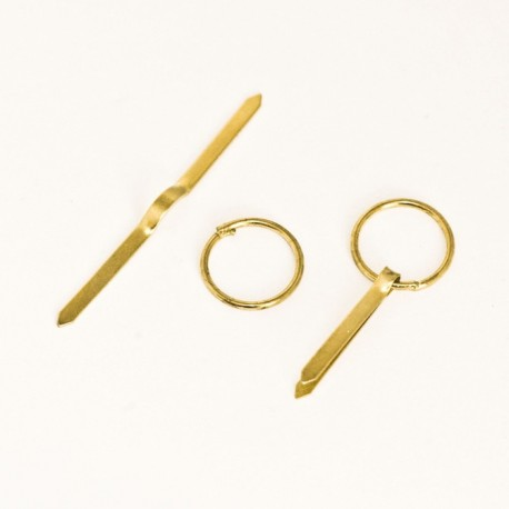 Diam. 16 mm Golden colour ring with laces for hanging frame - Ajile