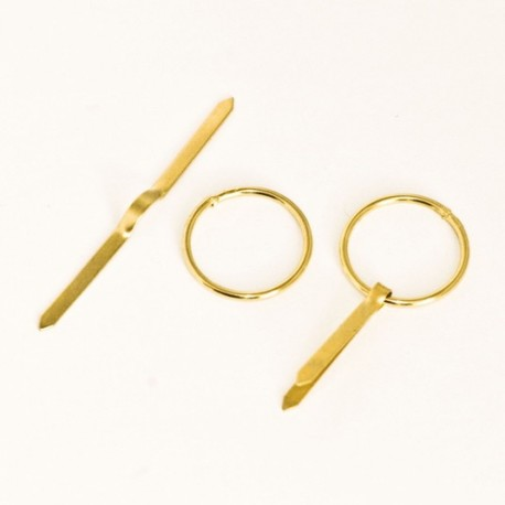 Diam. 20 mm Golden colour ring with laces for hanging frame - ring-with-laces - ajile