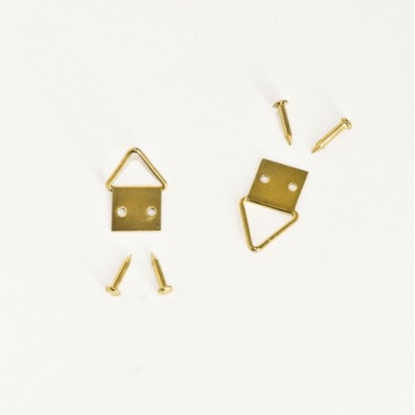 Diam. 10 mm Golden colour d-ring/Triangle hangers for hanging frame - Ajile
