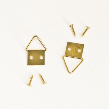 Diam. 12 mm Golden colour d-ring/Triangle hangers for hanging frame - Ajile