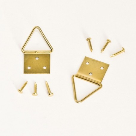 Diam. 16 mm Golden colour d-ring/Triangle hangers for hanging frame - Ajile