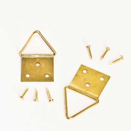 Attache Triangulaire Acier Laitonné 20 mm - Ajile