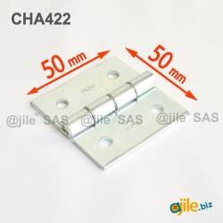 Square 50 x 50 mm Screw-on...