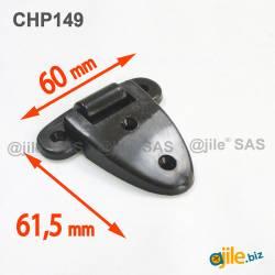 Charnière Plastique NOIR 60...