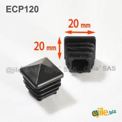 20 x 20 mm Plastic Black...