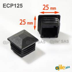 25 x 25 mm Plastic Black...