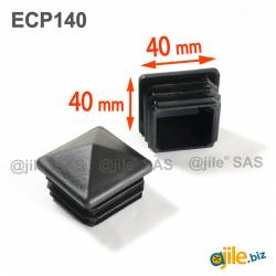40 x 40 mm Plastic Black...