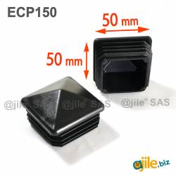 50 x 50 mm Plastic Black...