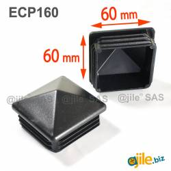 60 x 60 mm Plastic Black...