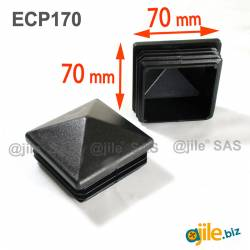 70 x 70 mm Plastic Black...