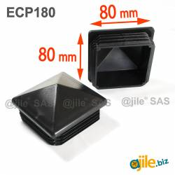 80 x 80 mm Plastic Black...