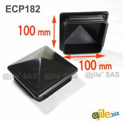 100 x 100 mm Plastic Black...