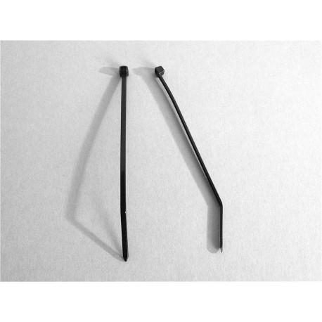 100 Fascette 2,5 x 100 mm di cablaggio - Nylon - NERO - Ajile