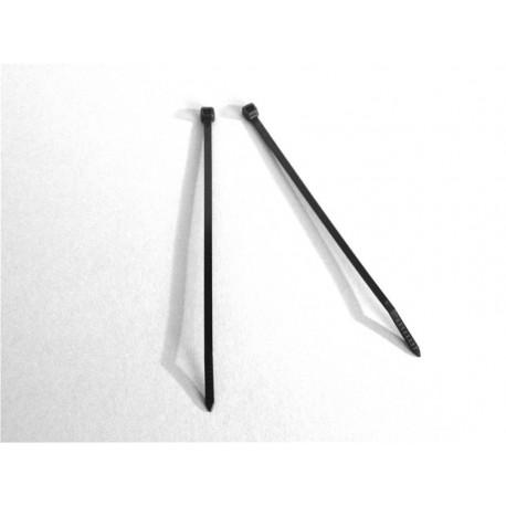 100 Fascette 3,6 x 140 mm di cablaggio - Nylon - NERO - Ajile