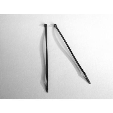 100 Fascette 4,8 x 200 mm di cablaggio - Nylon - NERO - Ajile