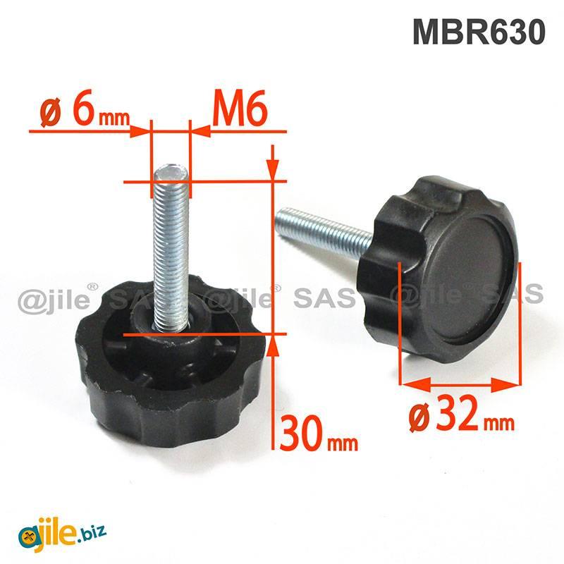 Black Oxide Steel CL-30-BSS-BO Knurled Head Thumb Screw Thread 5//16-18 Length 1-31//32