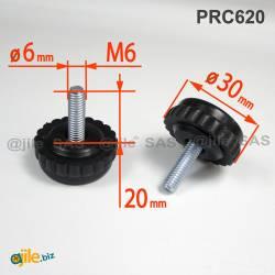 30 mm Durchmesser Stellfüße...
