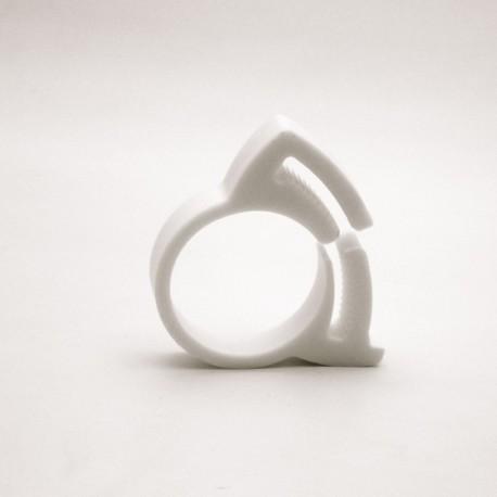 Diam. 20.5 to 23 mm Plastic hose clamp - WHITE - Ajile