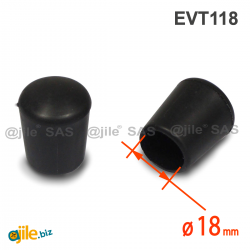 Thermoplastic Rubber Bush Ferrule BLACK for 18 mm Diameter Tube