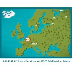 Pied Adhésif Couronne Noir diamètre 22 mm - Ajile 5