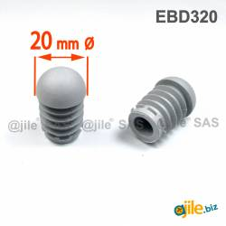 Anti-Skid Round Semispherical Ribbed Insert GREY diameter 20 mm