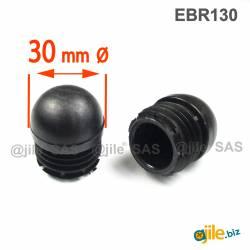 Round Reinforced Semispherical Insert BLACK 30 mm diameter