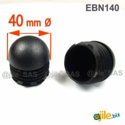 Round Finishing Semispherical Ribbed Insert BLACK diameter 40 mm